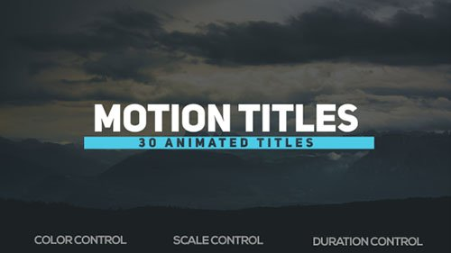 Motion Titles 18721403 - Project for After Effects (Videohive)