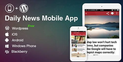 CodeCanyon - Full Mobile Application for Wordpress News, Blog, Magazine Website - Wordpress Mobile App (Update: 5 November 16) - 18372913