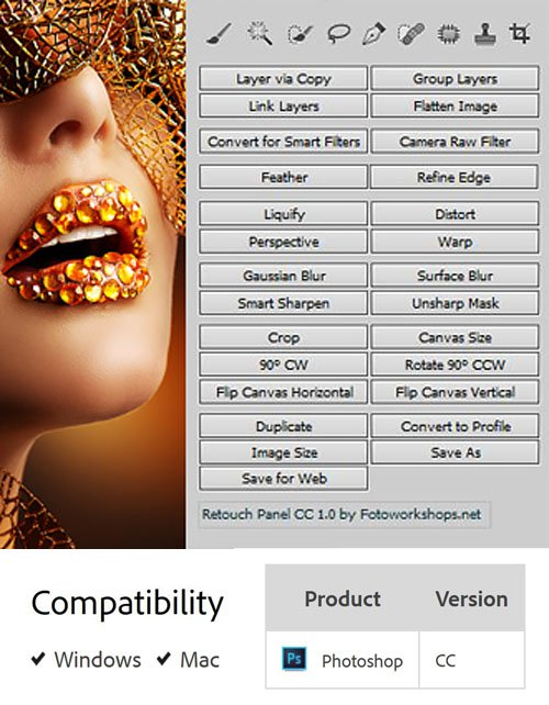 Photo Retouch Panel 1.0.0 Plug-in for Photoshop