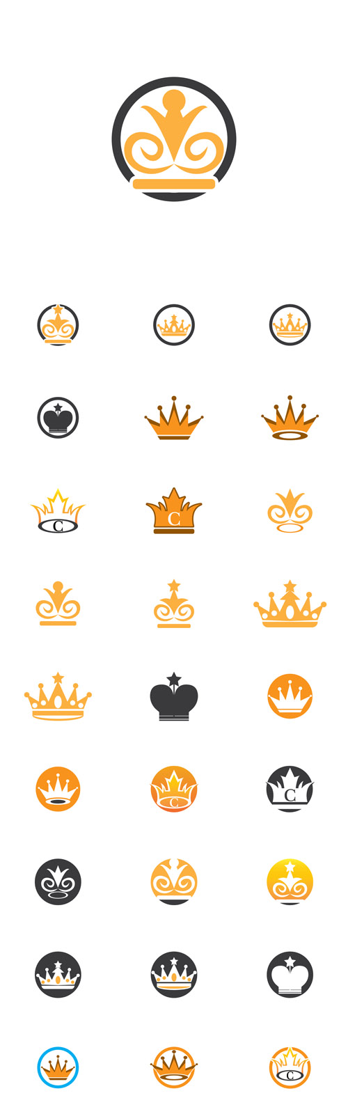Vector Crown Logos