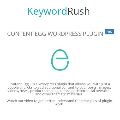 KeywordRush - Content Egg Pro v2.6.1 - WordPress Plugin
