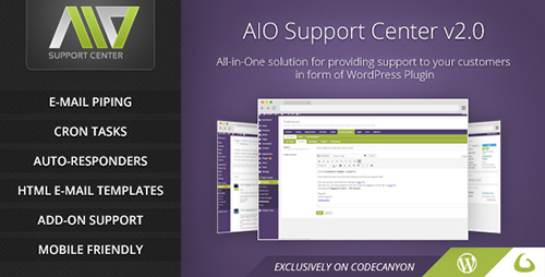 CodeCanyon - AIO Support Center v2.1.9 - WordPress Ticketing System - 8283822