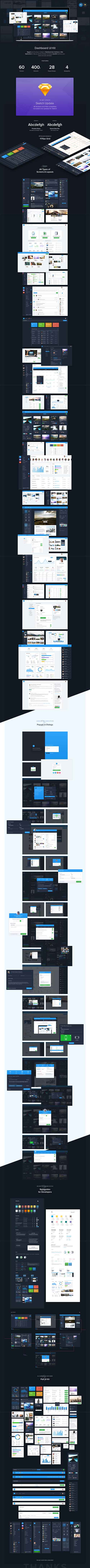 Dashboard60 UI Kit - 67 Files for mastering the art of Dashboard interface