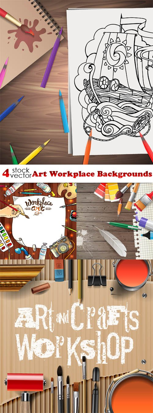 Vectors - Art Workplace Backgrounds