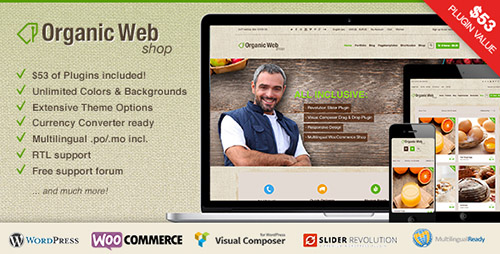 ThemeForest - Organic Web Shop v2.6.14 - An Organic and Responsive WooCommerce Food, Farn and Eco Theme - 9475703