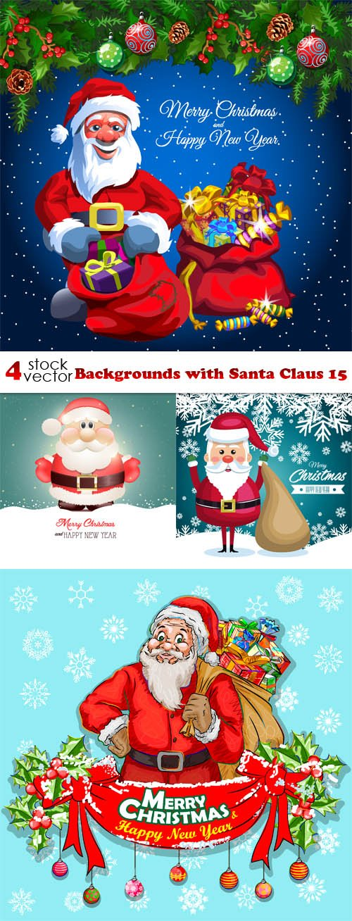 Vectors - Backgrounds with Santa Claus 15