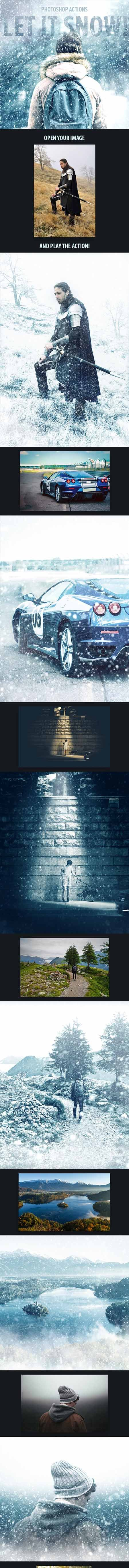 GraphicRiver - Let It Snow - Photoshop Action 18790823