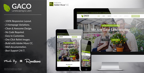 ThemeForest - Gaco - Landscaping  Gardening Muse Template (Update: 19 February 2016) - 14719938