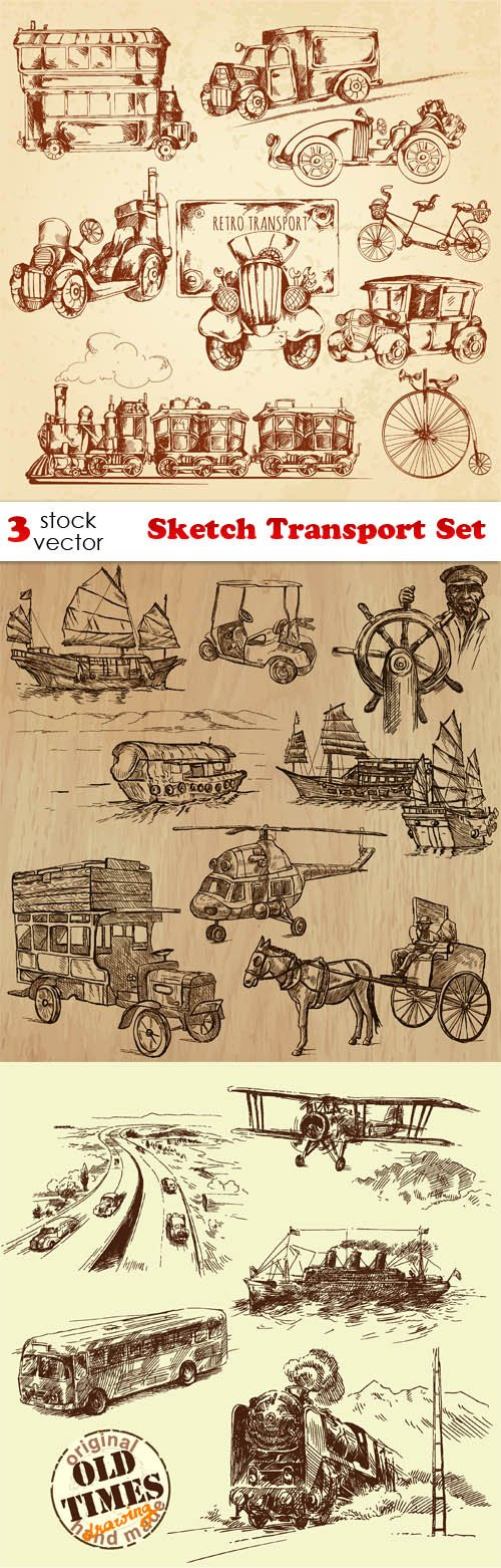 Vectors - Sketch Transport Set