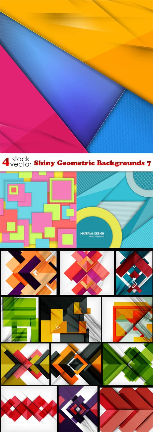 Vectors - Shiny Geometric Backgrounds 7