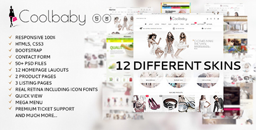 ThemeForest - Coolbaby v1.0.3 - Fashion eCommerce HTML theme - 12878618