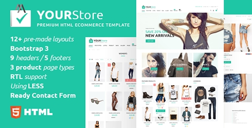 ThemeForest - YourStore v1.0.3 - HTML eCommerce template - 17303809
