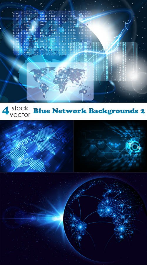 Vectors - Blue Network Backgrounds 2