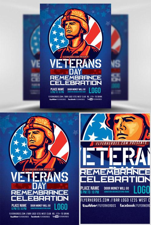 Flyer Template - Veterans Day Remembrance Celebration