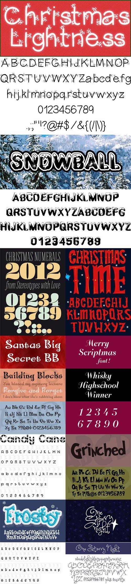 10 Christmas Fonts - 2017 Festive Holiday Fonts