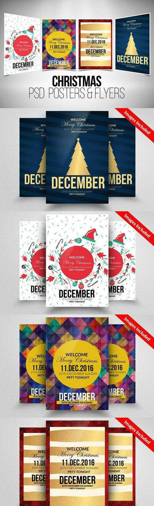 4 Christmas Flyer Template Bundle 928716
