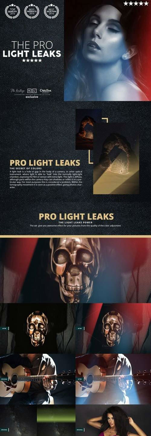 Pro LIGHT LEAKS 95 Photoshop Bundle 1083452