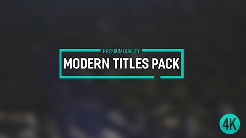 Modern Titles Pack II - Project for After Effects (Videohive)