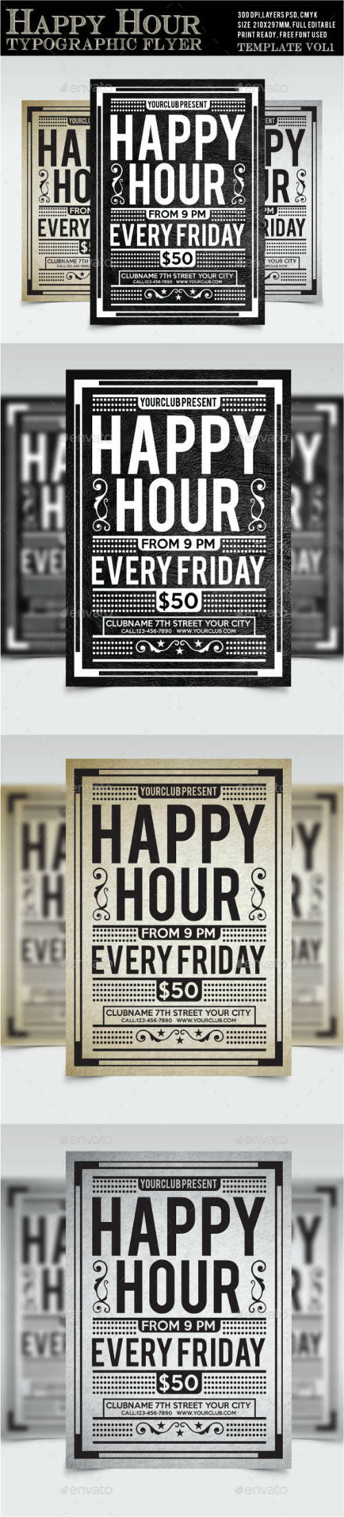 Happy Hour Flyer Vol1 15218919