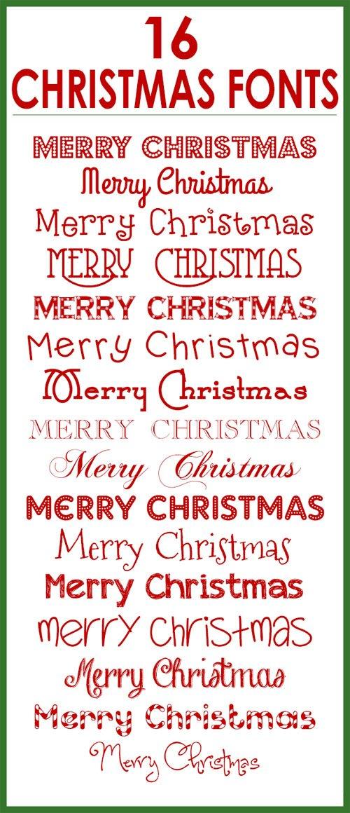 16 Christmas Fonts