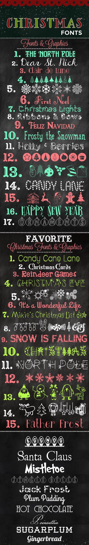 40 Christmas Fonts & Graphics