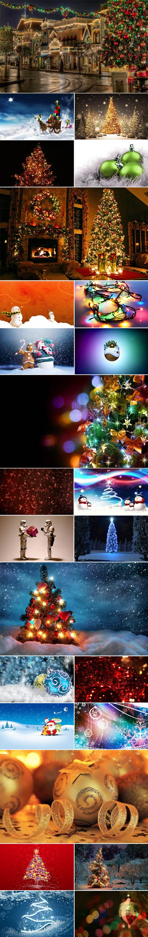 25 Super HD Christmas Wallpapers + 25 Christmas Facebook Covers