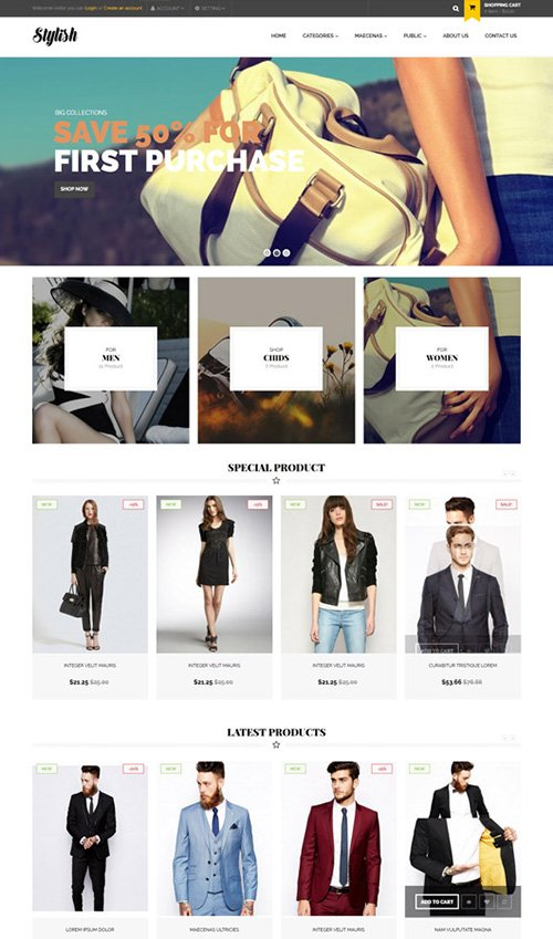 PrestaBrain - PTS Stylish v3.0 - PrestaShop 1.6.0.14 Template