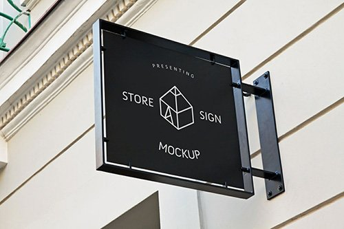 PSD Mock-Up - Store Sign 2016