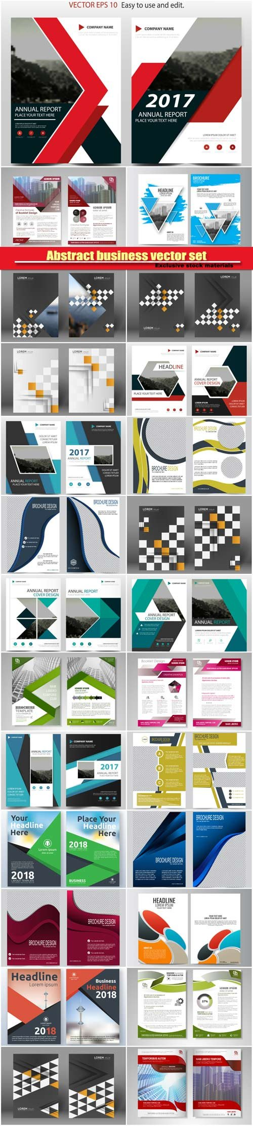Vector brochures and flyers template design