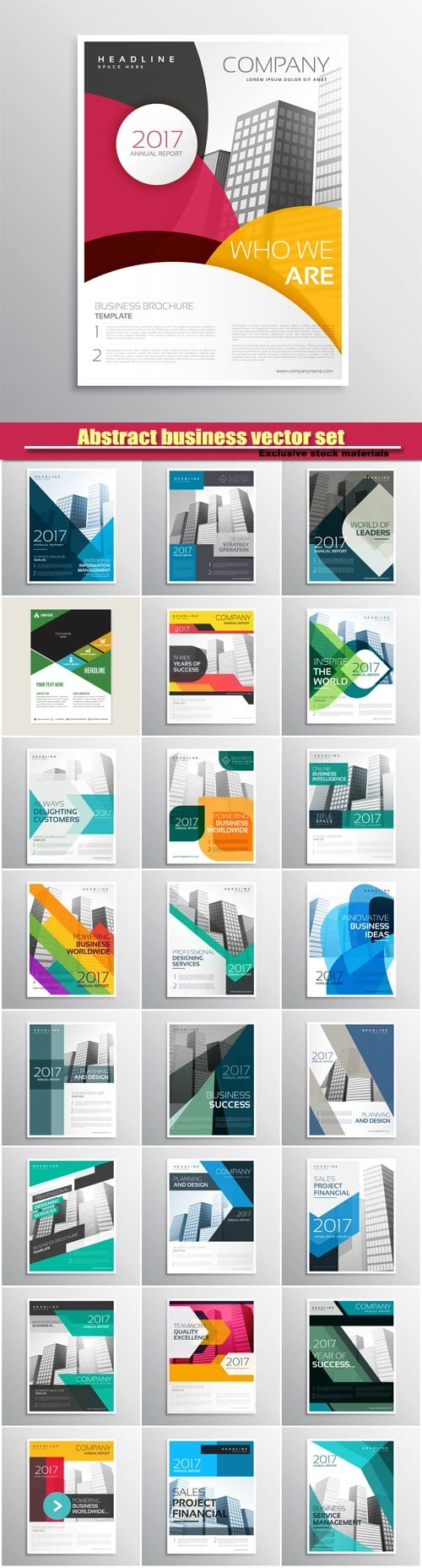 Corporate vector brand business brochure template