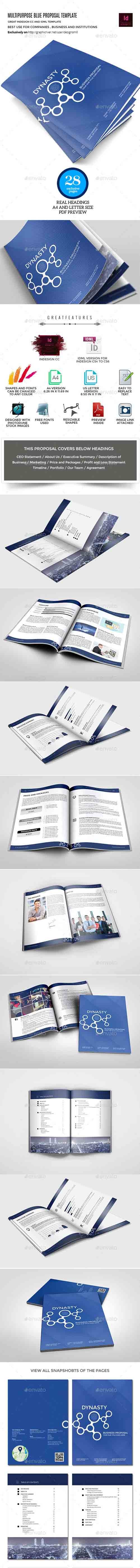 Dynasty Blue Business Proposal Templates 10121525