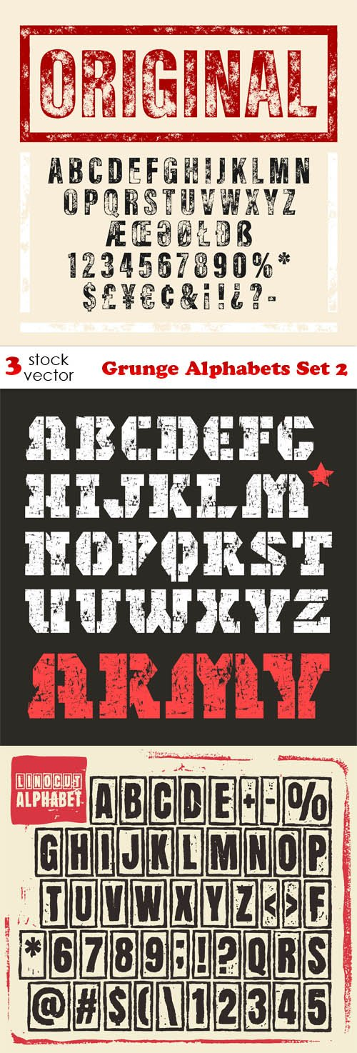 Vectors - Grunge Alphabets Set 2