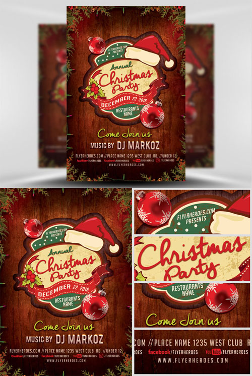 Flyer Template - Annual Christmas Party