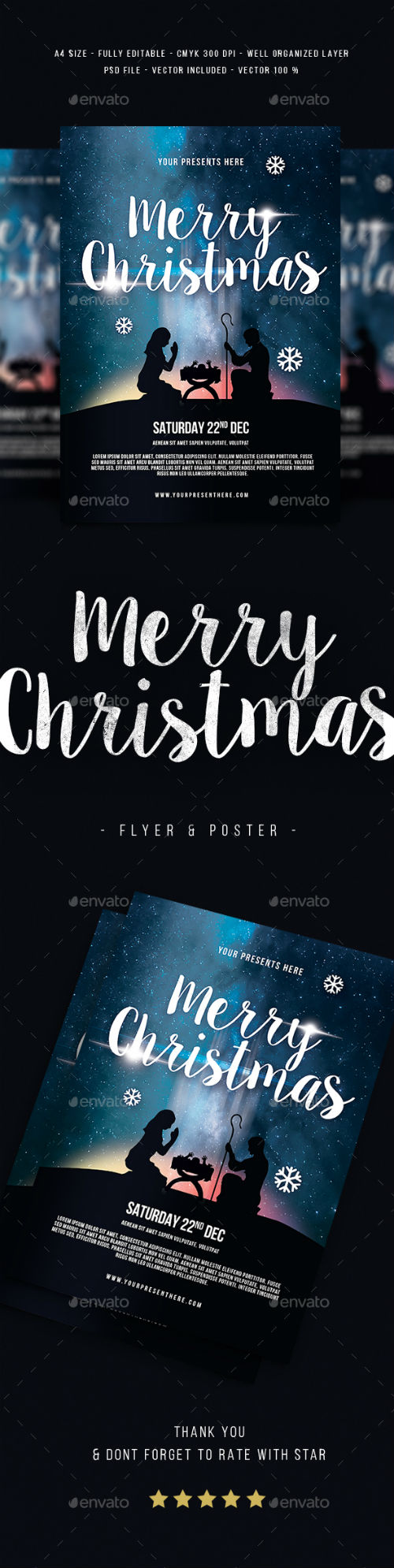 Merry Christmas Flyer 18924294