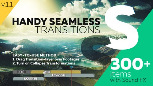 Handy Seamless Transitions | Pack & Script - Project for After Effects (Videohive)