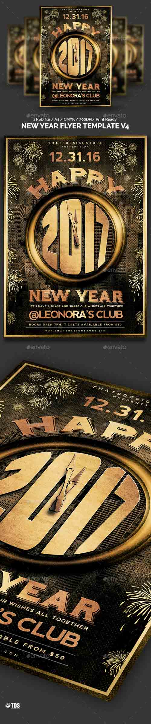 New Year Flyer Template V4 13503090