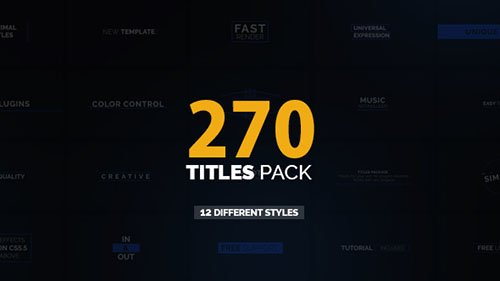 270 Titles Pack - Project for After Effects (Videohive)