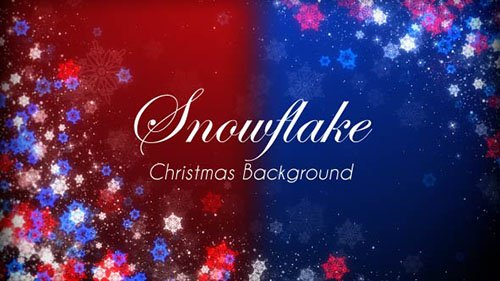 Snowflake Christmas Event Sparkling Background - Motion Graphics (Videohive)