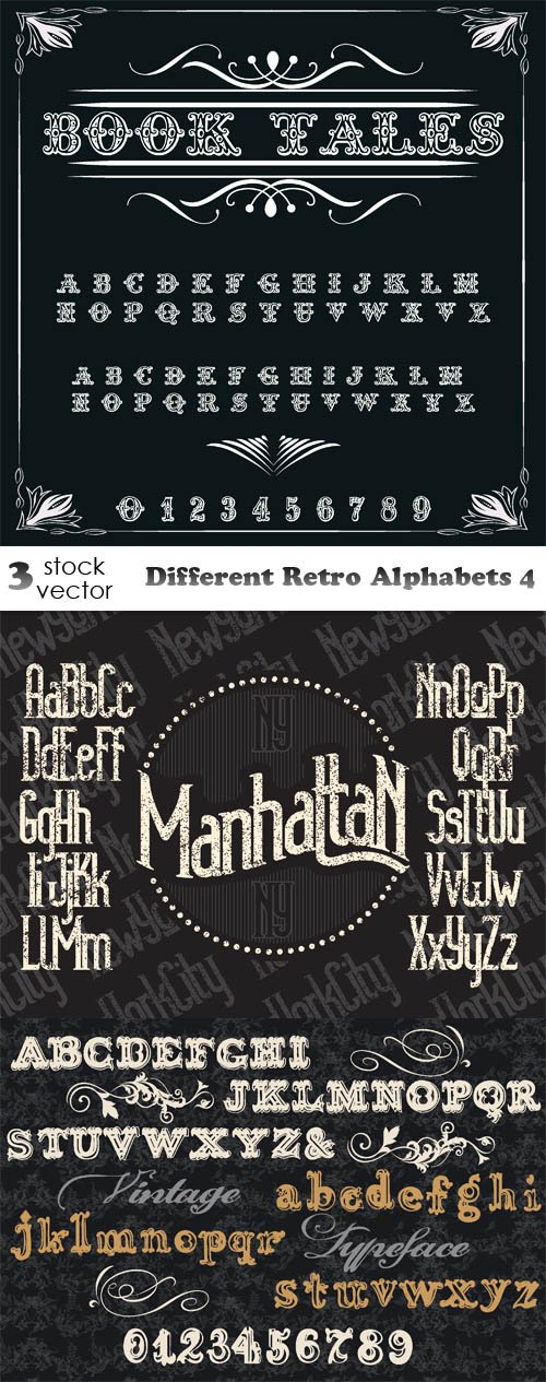Different Retro Alphabets 4