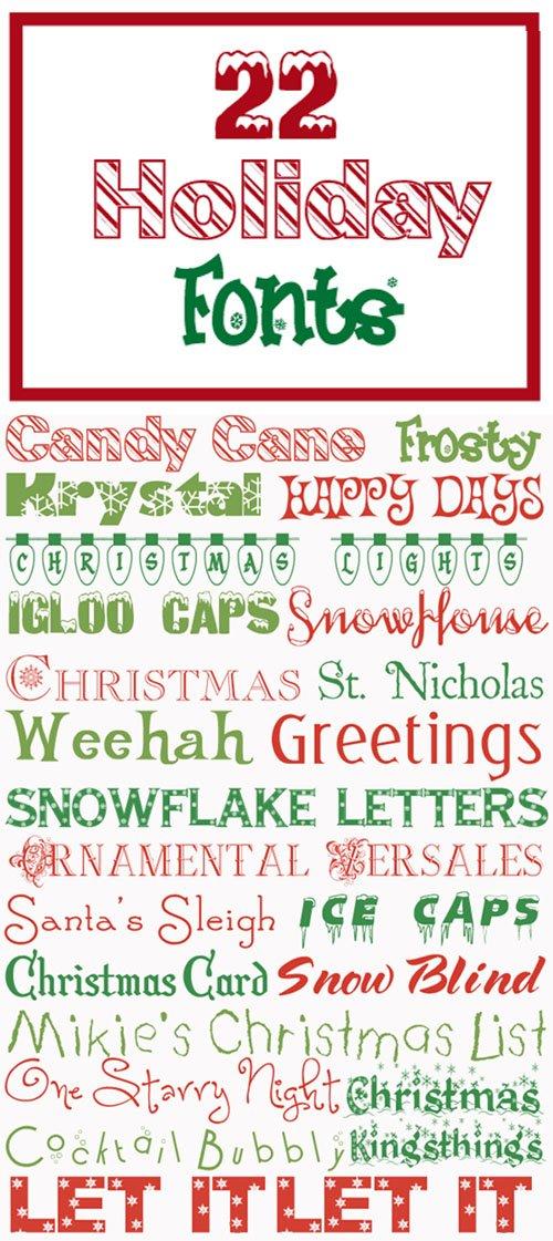 22 Holiday Fonts (TTF/OTF)