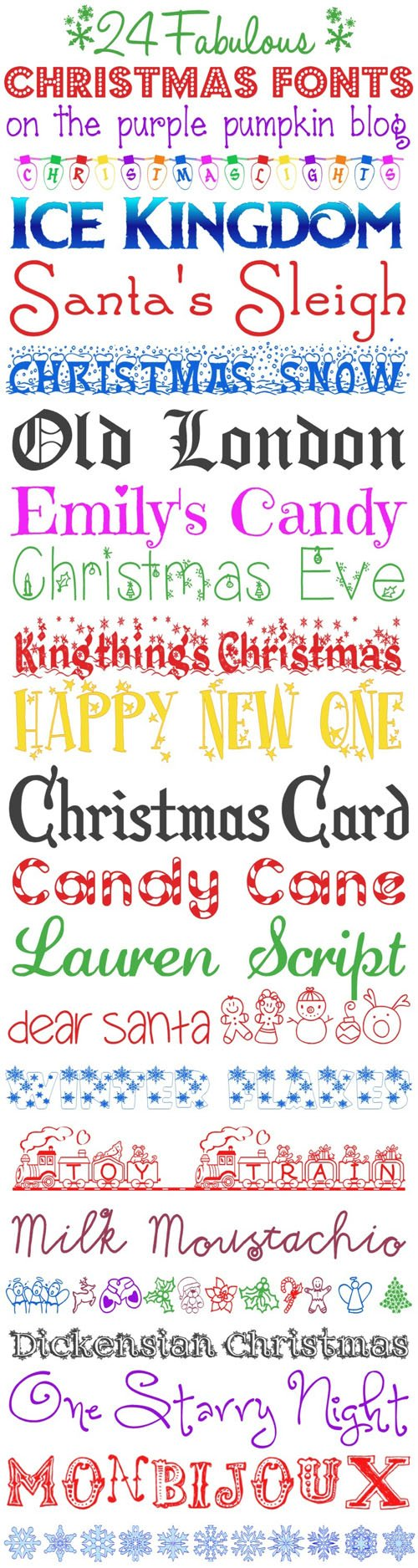 24 Fabulous Christmas Fonts (TTF/OTF)
