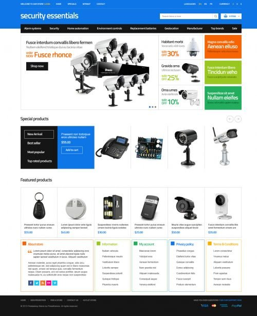 EggThemes - ET Security Essentials - Responsive PrestaShop 1.6.0.8 Theme