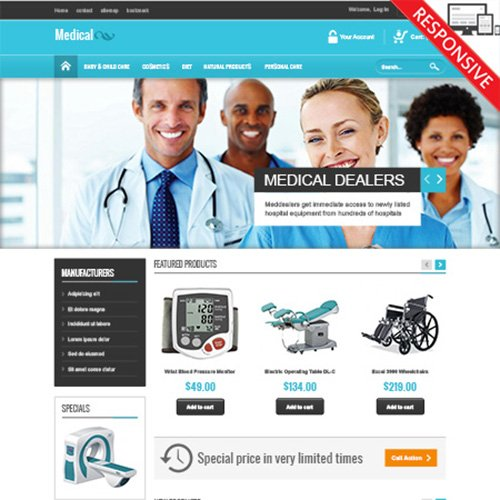 PrestAddon - VP_Medical - Prestashop 1.6.x Template