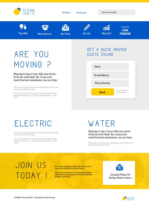 PSD Web Template - Energy Company - Landing Page