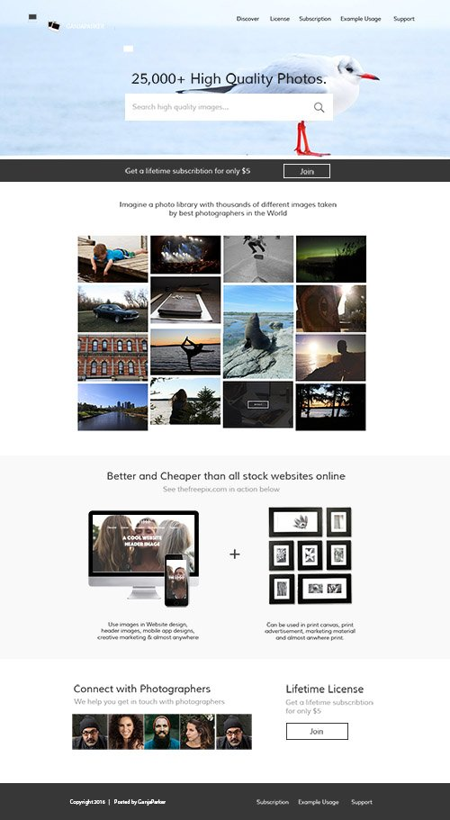 PSD Web Template - Stock Photo Marketplace