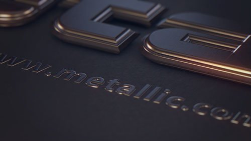 Metallic Text - Project for After Effects & Cinema 4D (Videohive)