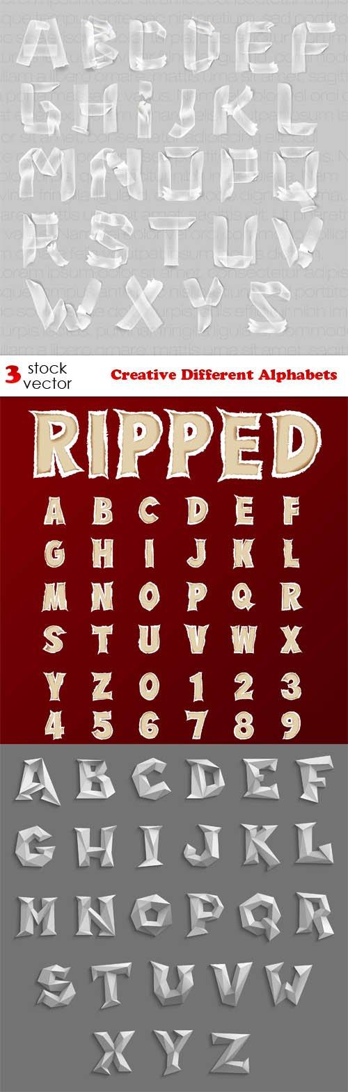 Vectors - Creative Different Alphabets