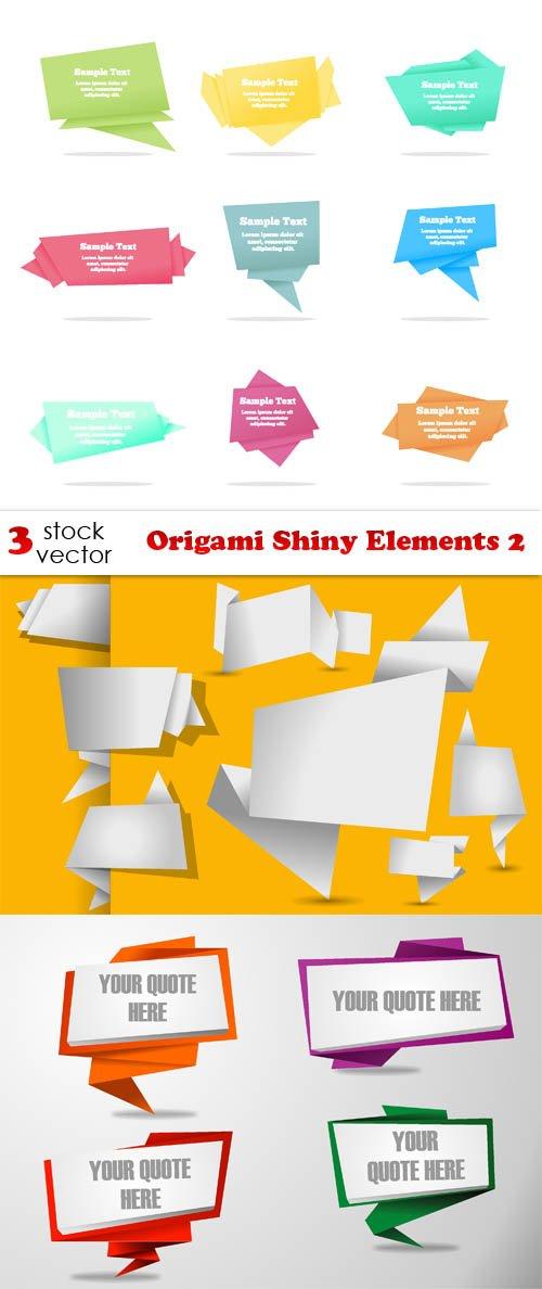 Vectors - Origami Shiny Elements 2