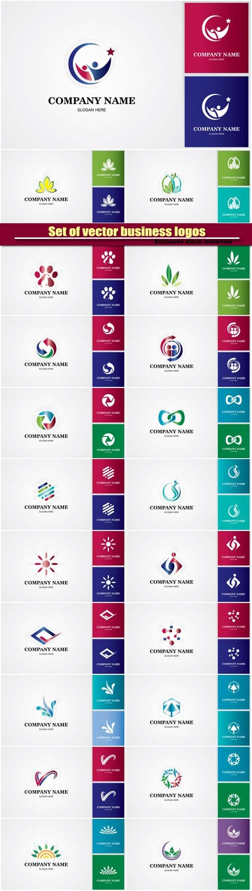 Set of vector business logos