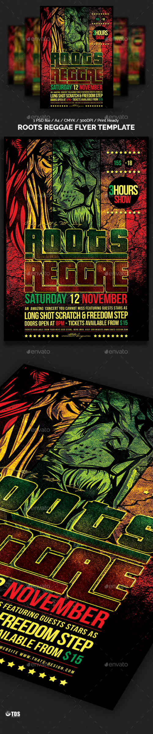 Roots Reggae Flyer Template 8761940